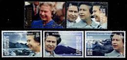 South Georgia 1992 - 40e Ann Accession Au Trône Reine Elisabeth II - 5v Neufs*** (MNH) - Géorgie Du Sud