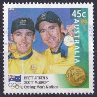 Australia 2000 Olympic Gold Medallists 45c Cycling Madison Used - - - 2000-09 Elizabeth II