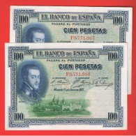 100  Pesetas 1925 SC PAREJA - Spagna