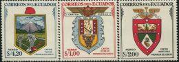 JA0218 Ecuador 1957 State Emblem 3v MNH - Equateur