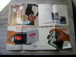 PUB / PUBLICITE 4 VOLETS  L' AGFA MICROFLEX   SENSOR LA PLUS PETITE CAMERA REFLEX SUPER 8 DU MONDE - Publicités