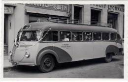 Cp Photo Autobus P. Martin, Saint Christophe En Brionnais ( Photo Burtin Charlieu ) - Charlieu
