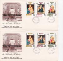 5] Lot Of 2  FDC Lot De 2 Enveloppes 1° Jour Français Et Anglais Nouvelles Hébrides New Hebrides Noël Christmas 1977 - FDC