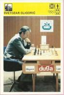 SPORT CARD - Chess - Svetozar Gligorić, 1980., Svijet Sporta, 10 X 15 Cm - Other