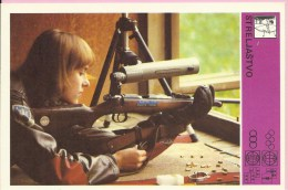 SPORT CARD No 155 - Shooting, Yugoslavia, 1981., Svijet sporta, 10 x 15 cm