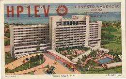 Panama City El Panama A Kirkeby Hotel QSL Card P. Used 1956 To Cuba  Correo Aereo - Panama