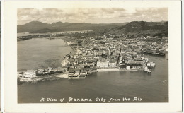 Panama City From The Air Aerail View Real Photo P. Used Canal Zone Cristobal 1938 Foto Flatau - Panama