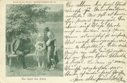 AK Kinder Junge 3 Mädchen Puppe Apfel Des Paris Künstler 1900 #61 - Fairy Tales, Popular Stories & Legends