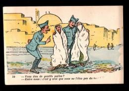 MIL Fantaisie, Humouristique, Gentils Poilus, Mauresques, Grivoise, Illustrée Chagny 39, 191? - Humour