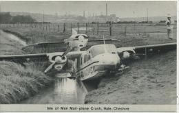 IOM - MAIL PLANE CRASH At HALE, CHESHIRE - Isle Of Man