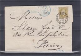 Belgique - Lettre De 1885 - Oblitération Bruxelles  - Expédié Vers La France - Oblitération Paris étranger - 1884-1891 Léopold II