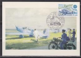 = Carte Postale Aviation Postale Intérieure 1er Jour 67 Strasbourg 28 04 1979 N°2046 Avion Simoun - Europa-CEPT