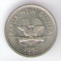 PAPUASIA NUOVA GUINEA 5 TOEA 1987 - Papoea-Nieuw-Guinea