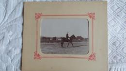 Photo Ancienne CAVALIER A L´EXERCICE - Non Classés