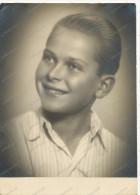 REAL PHOTO, Handsome Boy, Smiling Boy, Portrait, Garçon Souriant, BIG OLD PHOTO - Portraits