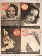 4 Revues Match N° 35,36,37,38 De Mars 1939. Juste Avant La Seconde Guerre Mondiale. Eddy Lamarr - Books, Magazines, Comics