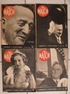 4 Revues Match N° 39,40,41,42 De Mars, Avril 1939. Juste Avant La Seconde Guerre Mondiale. Géraldine D'albanie Roosevelt - Books, Magazines, Comics