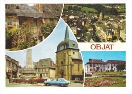 19 Objat Carte 4 Vues Dont Lycée Horticole , Voitures Renault 4L Citroen 2cv - France