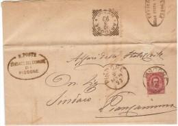 1883 PIEGO DA PISOGNE  AD ARTOGNE  ANNULLI - 1878-00 Umberto I