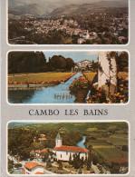 Cpsm CAMBO LES BAINS,  Multivues, Vue Générale, Jardins Et Villa Arnaga, église (9.1) - Autres Communes