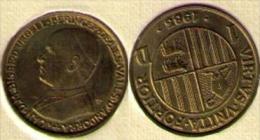 ANDORRA 1983 - MONEDA DE 1 DINER - Cu 67%  Zn 33% EN ESTUCHE ORIGINAL - Andorre