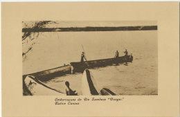 """Embarcaçaes Do Rio Zambeze """" Domgos """" Native Canoes Edit J. F. Moinhos Lourenço Marques 205 - Mozambique"""