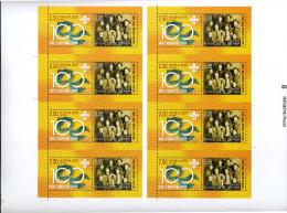 Ukraine 2007 Y&T 783/4. Blocs De Carnets En Feuille De 8 Non Découpée. Essai. Europa, Scoutisme - Scouting