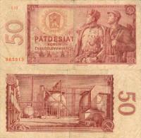 Banknote 50 Kronen Tschechoslowakei 1964 ČSSR Czechoslovakia Československo KCS Korun Note Geldschein Papierge - Tschechoslowakei