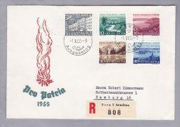Schweiz Pro Patria 1955-06-01 R-FDC Nach Hamburg - Storia Postale