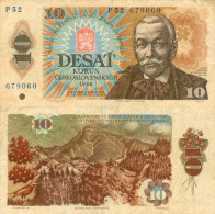 Banknote 10 Kronen Tschechoslowakei ČSSR Czechoslovakia Československo Korun KCS Note Geldschein Papiergeld Ze - Tschechoslowakei