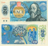 Banknote 20 Kronen Tschechoslowakei 1988 ČSSR Czechoslovakia Československo KCS Note Geldschein Papiergeld - Tschechoslowakei