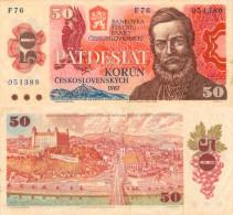 Banknote 50 Kronen Tschechoslowakei 1987 ČSSR Czechoslovakia Československo KCS Note Geldschein Korun Papierge - Tschechoslowakei