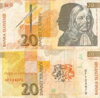 Banknote 20 Tolar Slowenien Slovenija Slovenia Note Dvajset Tolarjev Schein SIT Geldschein Papiergeld Paper Money - Slowenien