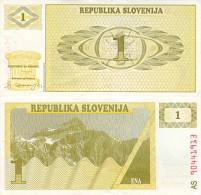 Banknote 1 Tolar Slowenien Slovenija Slovenia Note Ena Geld Money Geldschein SIT Geldschein Papiergeld Paper Money - Slowenien