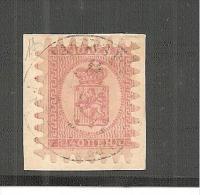 FinMi.Nr.9C/  FINNLAND - Auf Briefausschnitt, Zentrischer Stempel, Fehlerfrei O - 1856-1917 Russian Government