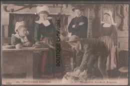 29--Interieurs Bretons--Marchand De Volaille De ROSPODEN--animé--colorisée- - France