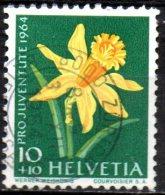 SWITZERLAND 1964 Children's Fund Flowers - 10c.+10c Daffodils  FU - Pro Juventute