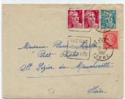 1950 - ENVELOPPE De VIZILLE (ISERE) Avec DAGUIN - GANDON + MAZELIN - France