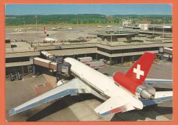 N14/ 014, Aéroport De Zürich, Avion Swissair, Grand Format, Non Circulée - Sin Clasificación