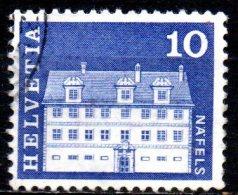 """SWITZERLAND 1964 """"Architectural Monuments"""" - 10c Freuler Mansion, Nafels  FU - Gebraucht"""