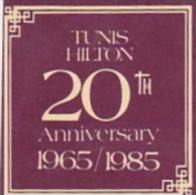 TUNISIA TUNIS HILTON HOTEL VINTAGE LUGGAGE LABEL