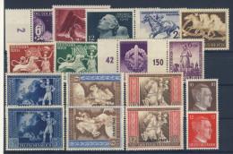 Deutsches Reich Nr. 811 - 827 ** postfrisch MNH / kompletter Jahrgang 1942