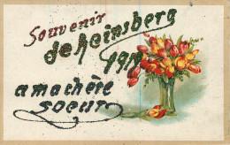 Allemagne - Rhénanie Du Nord Westphalie - Souvenir De Heinsberg 1919 - Fleurs - Paillettes - état - Heinsberg