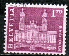 "SWITZERLAND 1960 Postal History And ""Architectural Monuments"" - 1f70  Abbey Church, Einsiedeln,  FU - Gebraucht"