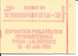 N° 2154 C1  -   SABINE     20  Timbres  -    1,40F   Vert  -  Philex France - Booklets
