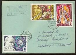 MAIL Post Cover Used USSR RUSSIA Set Stamp Space Rocket Sputnik Korolev Constructor - Cartas