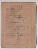 CARTE INDIVIDUELLE D'ALIMENTATION BURLIER ROBERT A DELIVREE A CHASSENEUIL CHARENTE NE EN 1928 A ETRIGNY - Historische Dokumente