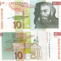Banknote 10 Tolar Slowenien Slovenija Slovenia Note Deset Tolarjev Schein SIT Geldschein Papiergeld Paper Money - Slowenien