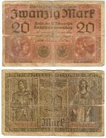 Banknote Darlehenskassenschein 20 Mark 1918 Note Geldschein Deutsches Reich Geld Germany Kaiserreich Papiergeld - 20 Mark