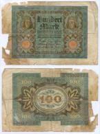Banknote 100 Mark 1920 Note Geldschein Reichsbanknote Deutsches Reich GERMANY Deutschland Geldschein Germany Money - 1918-1933: Weimarer Republik